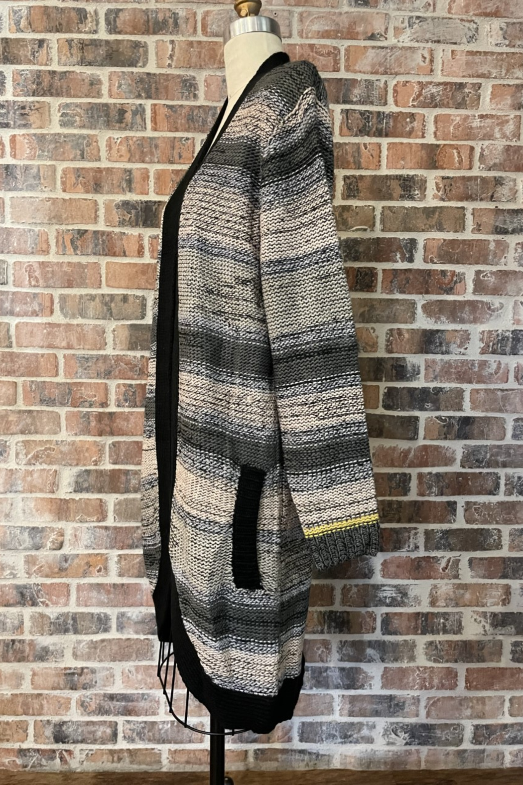 Sioni Marled Long Sweater Cardigan - Front Full Image
