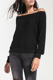z supply Marled Off Shoulder Pullover - Product Mini Image