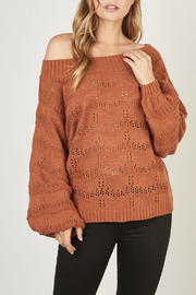 Mustardseed Marled open-knit sweater - Front cropped