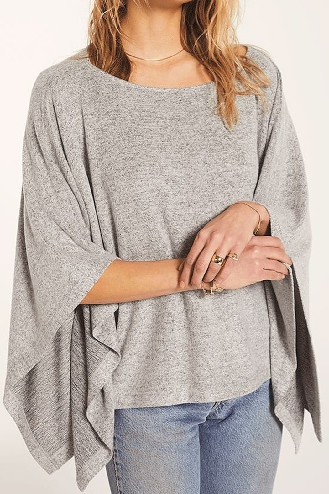 Zsupply Marled Poncho - Front Cropped Image