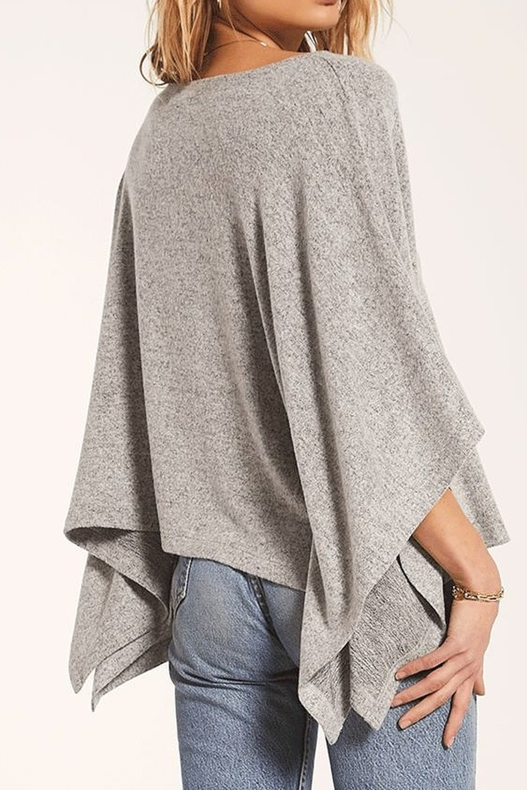 Zsupply Marled Poncho - Front Full Image