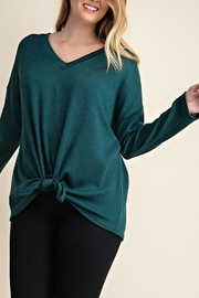 Mittoshop MARLED RIB KNIT TOP CURVY - Front cropped