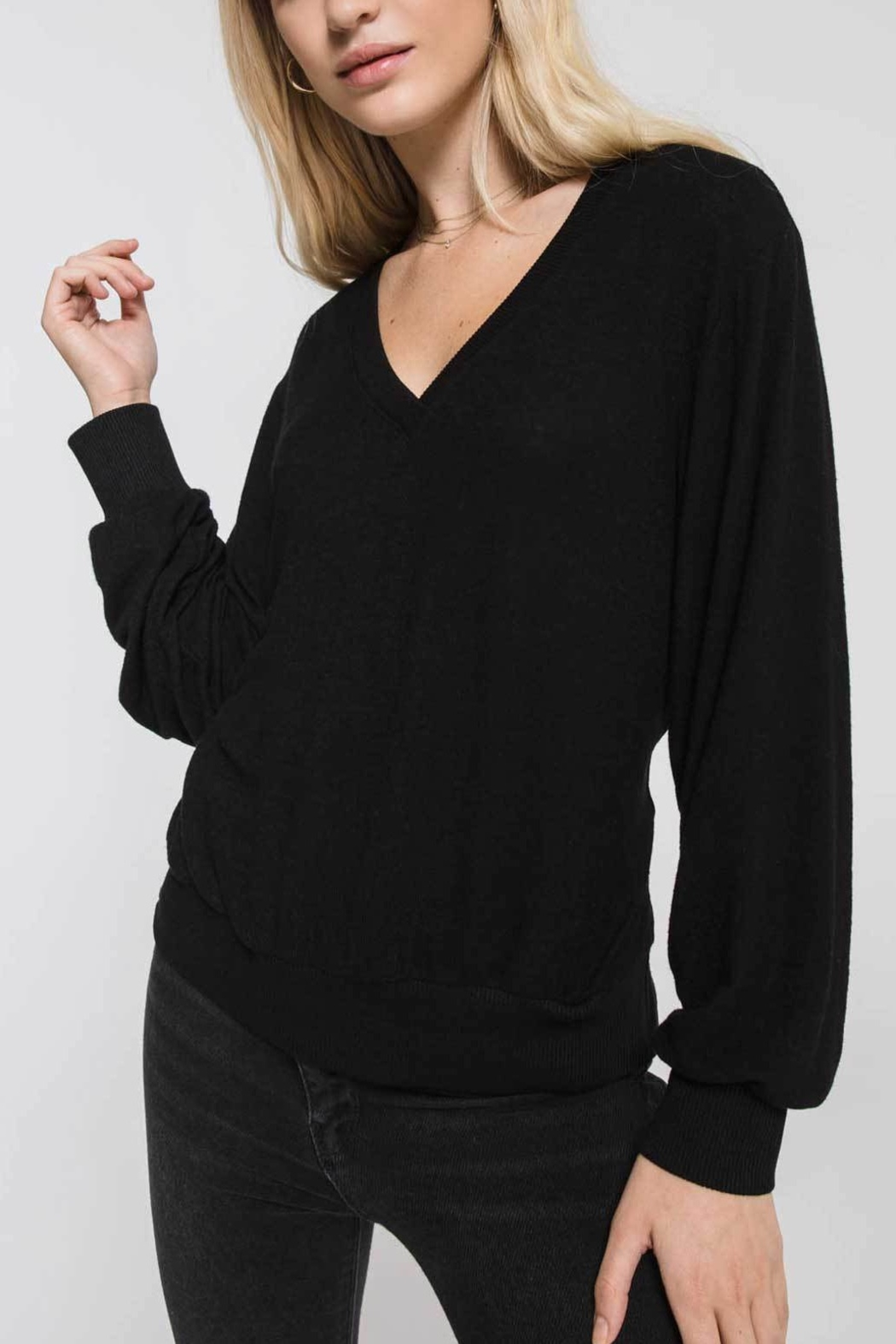 z supply Marled Twist Back Sweater - Front Cropped Image