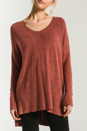 z supply Marled V-Neck Knit Sweater Tunic - Product Mini Image