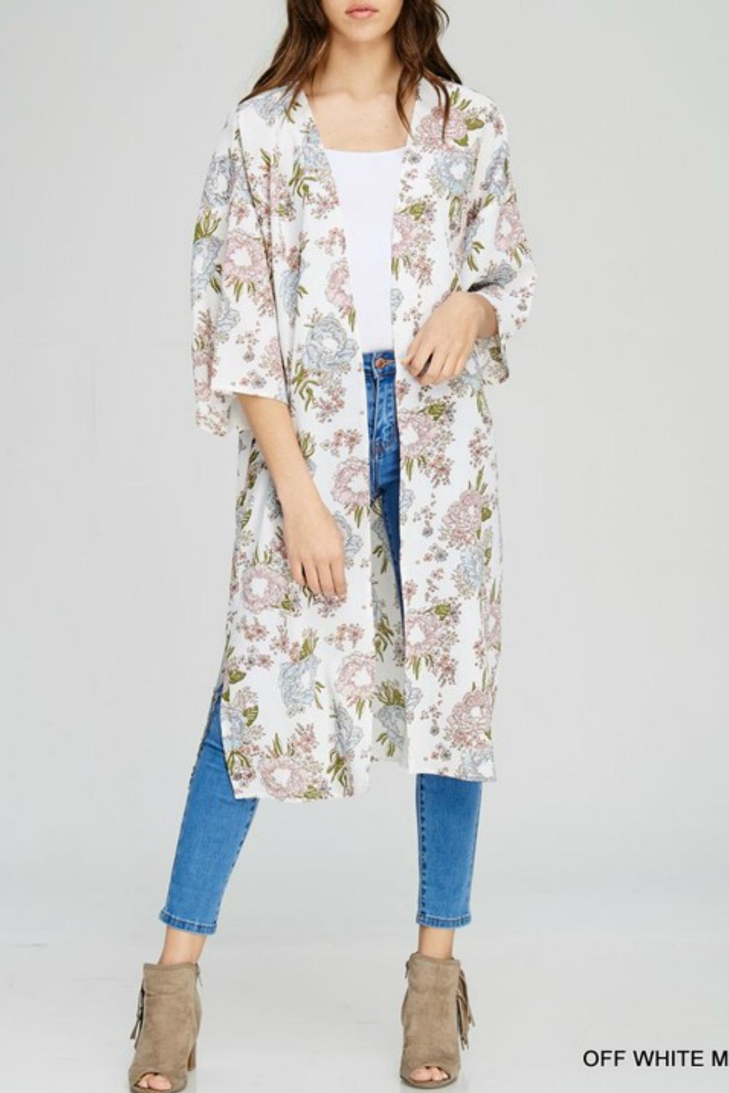 Jodifl Marley Floral Kimono - Front Cropped Image