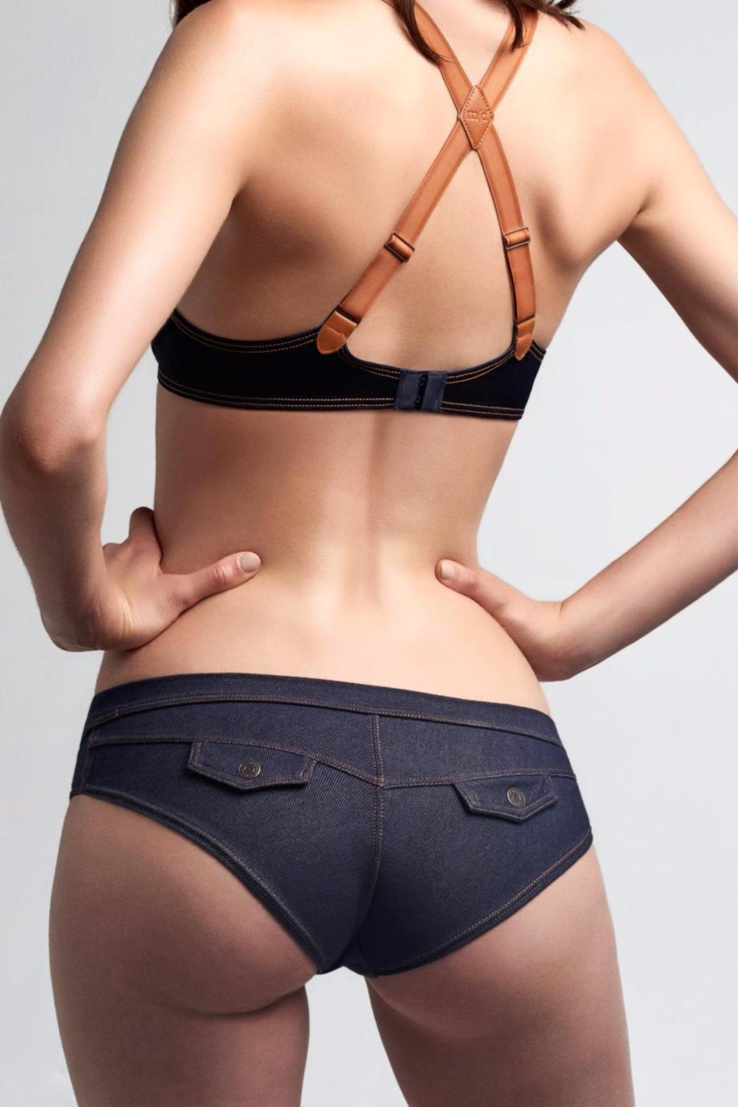 marlies dekkers Denim Brazilian Briefs - Front Cropped Image