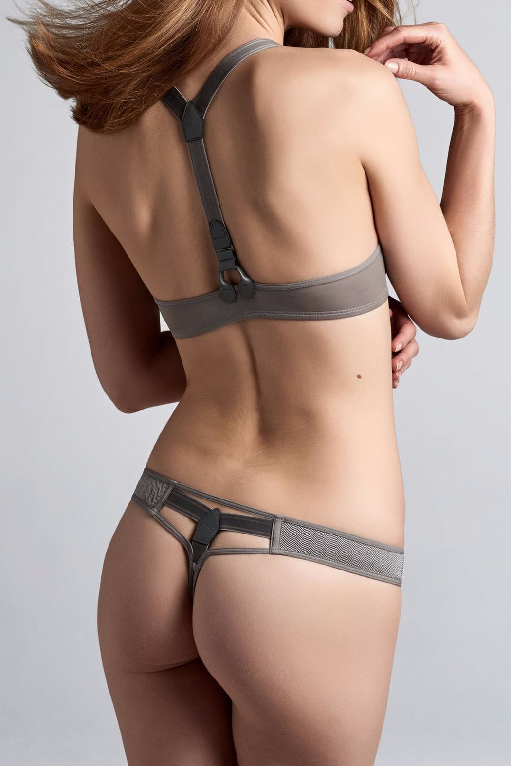 marlies dekkers Herringbone Cotton Thong - Front Cropped Image