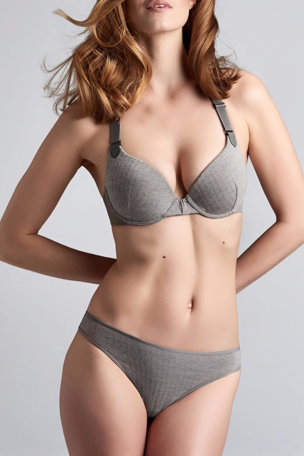 marlies dekkers Herringbone Cotton Thong - Main Image