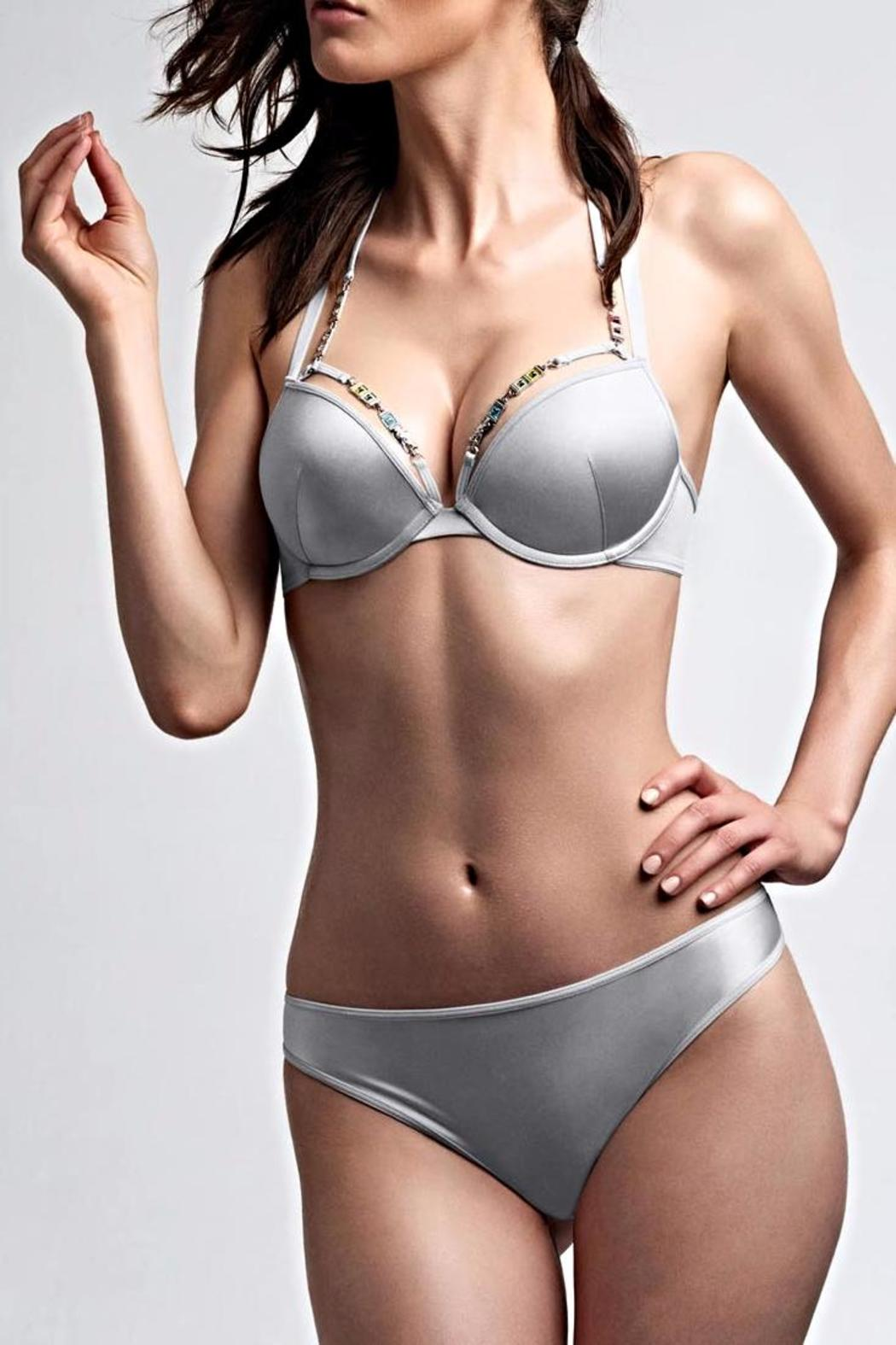1cb6605060dcd marlies dekkers Silver Pushup Bra from Canada by Blue Sky Fashions ...