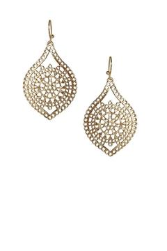 Marlyn Schiff Accented Gold Earrings - Alternate List Image