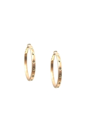 Marlyn Schiff Accented Hoop Earrings - Product Mini Image