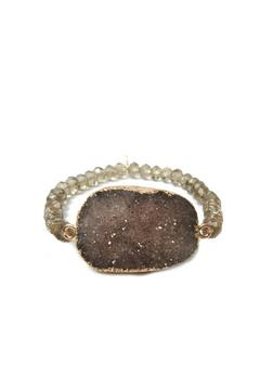Shoptiques Product: Adjustable Druzy Bracelet
