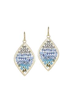 Marlyn Schiff Beaded Marquise Earrings - Alternate List Image