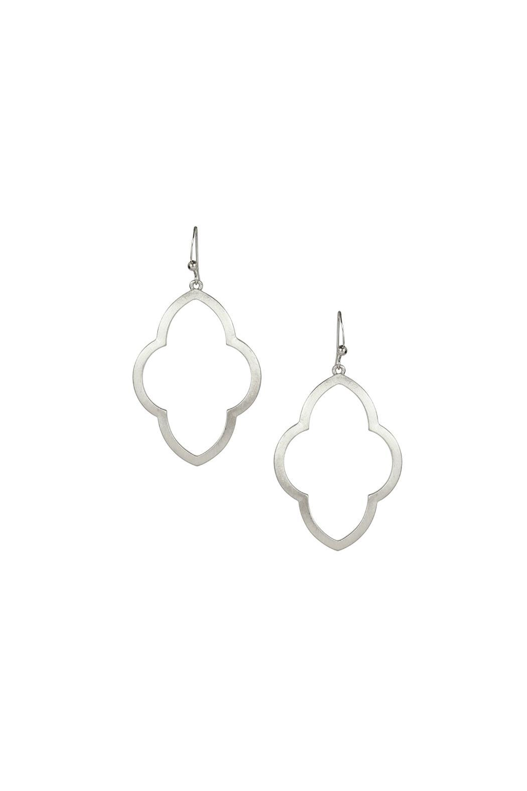 Marlyn Schiff Brushed Silver Earrings Front Cropped Image