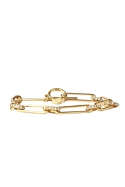 Marlyn Schiff Chain Pave Link Toggle Bracelet - Product Mini Image