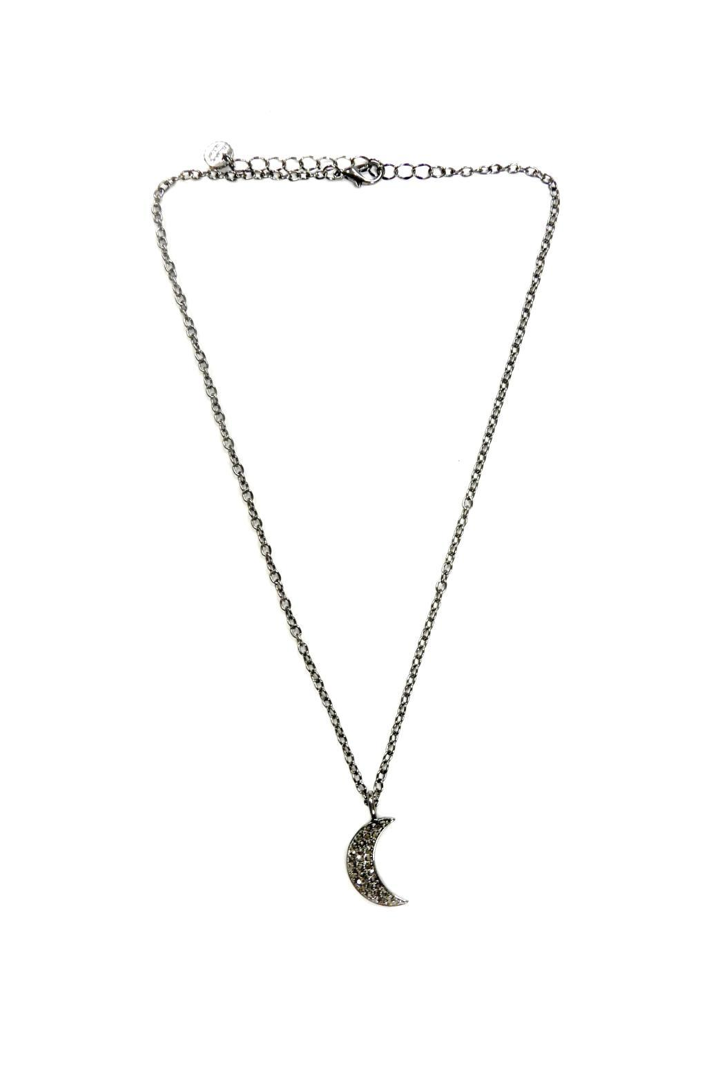 Marlyn Schiff Crystal Moon Necklace - Main Image