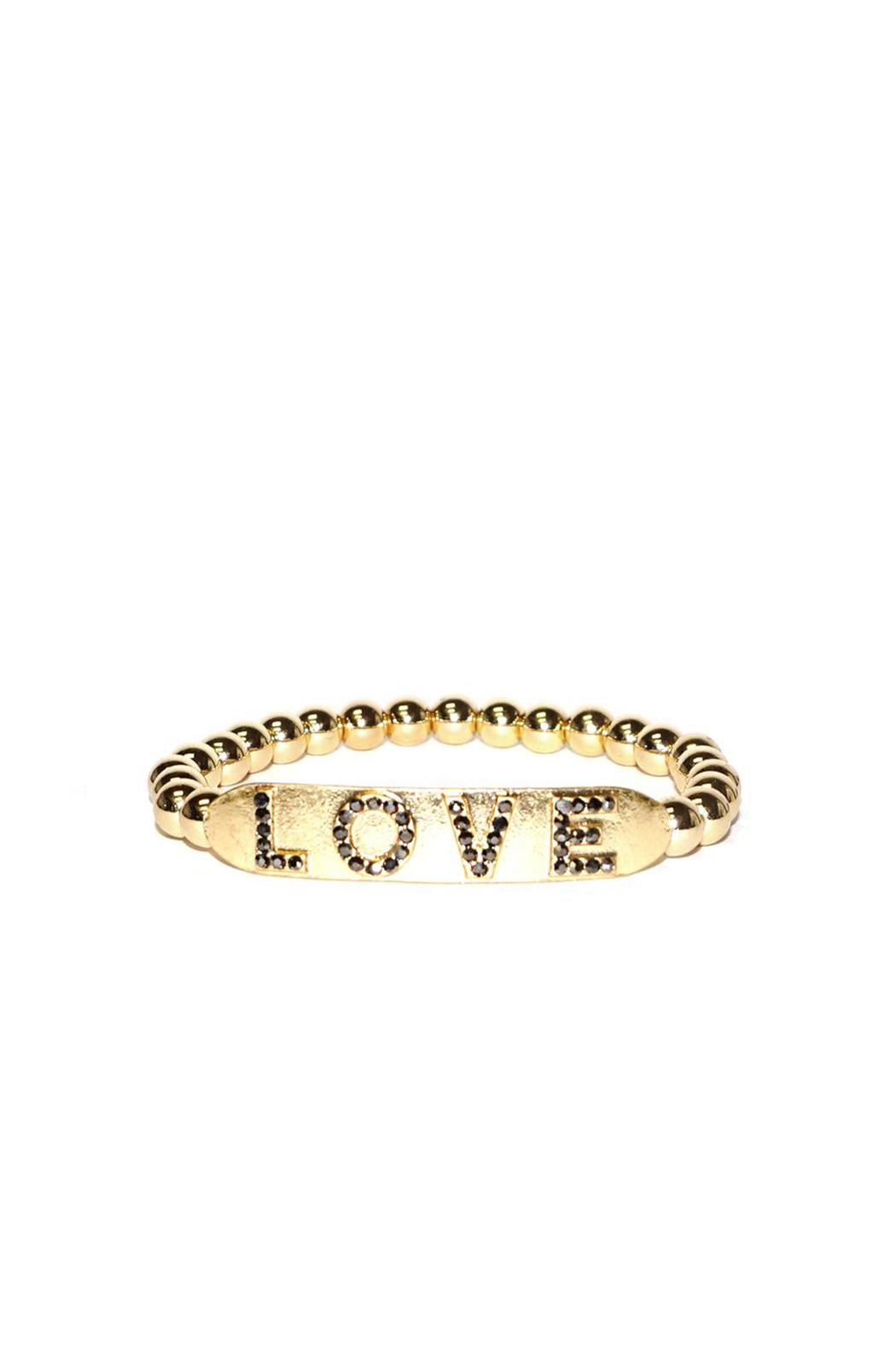 Marlyn Schiff Love Stretch Bracelet - Front Cropped Image