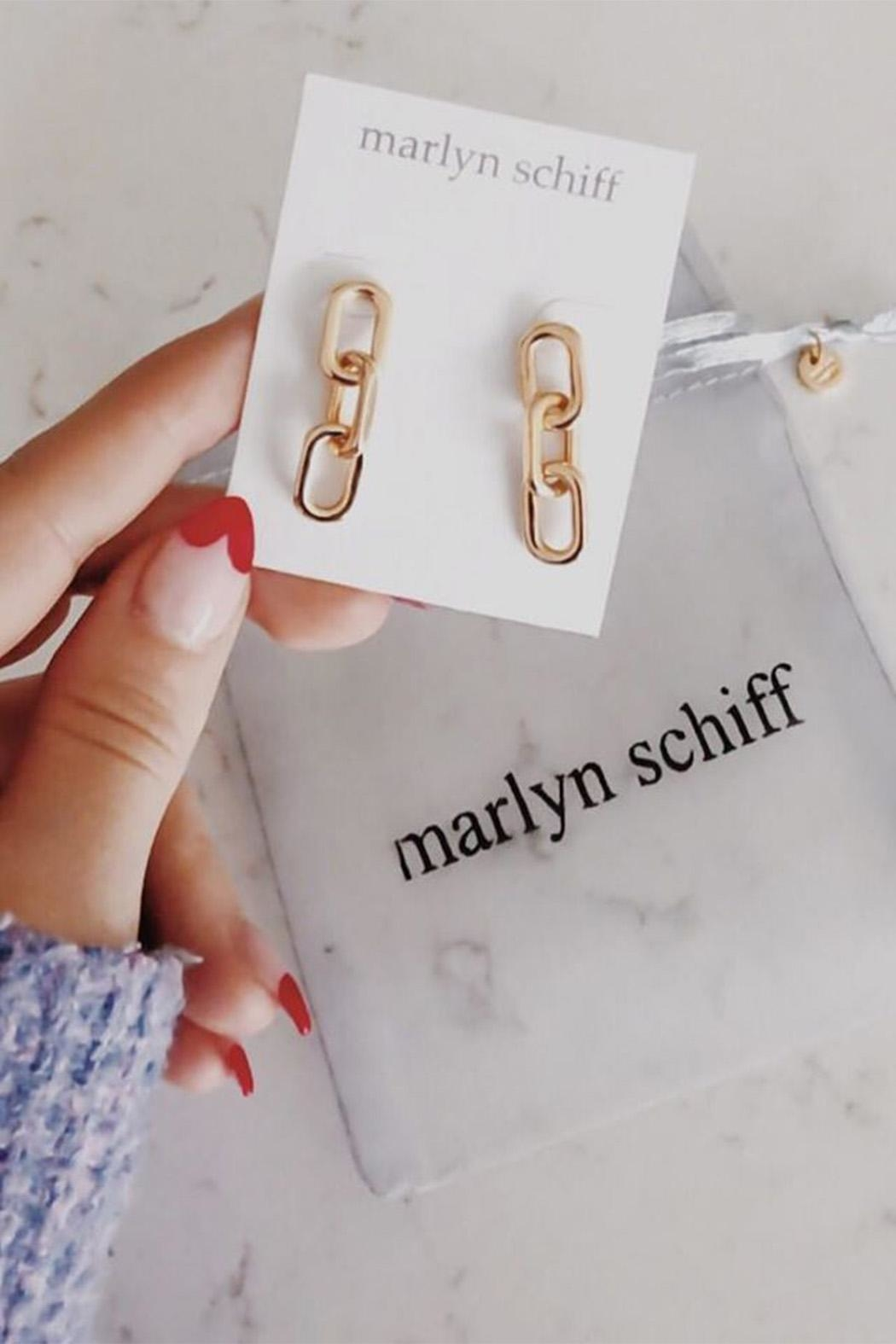 Marlyn Schiff Metal Link Earring - Front Full Image