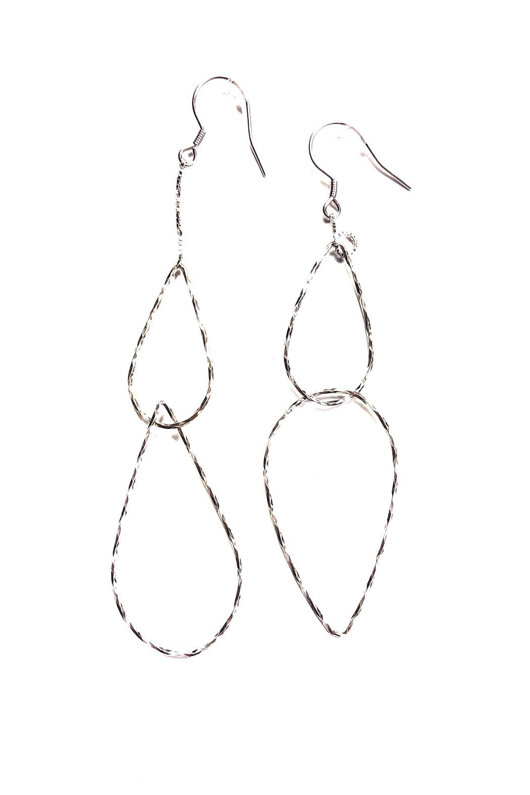 Marlyn Schiff Mixed Link Tear Drop Earrings - Front Cropped Image
