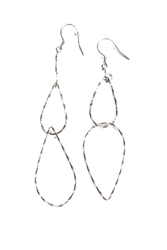 Marlyn Schiff Mixed Link Tear Drop Earrings - Product List Image