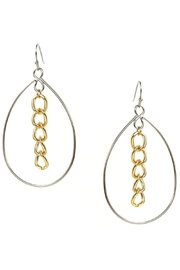 Marlyn Schiff Open Teardrop With Chain Link Center - Product Mini Image