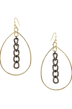 Marlyn Schiff Open Teardrop With Chain Link Center - Alternate List Image