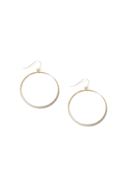 Marlyn Schiff Shimmer Circle Earrings - Product Mini Image