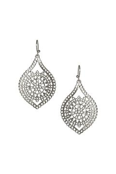 Shoptiques Product: Silver Teardrop Earrings