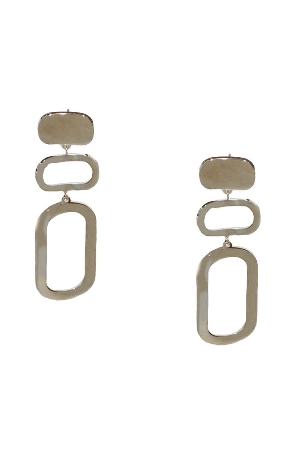 Marlyn Schiff Triple Oval Layer Post Earring - Main Image