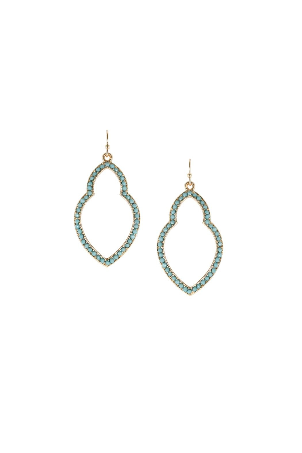 Marlyn Schiff Turquoise Moroccan Earrings - Main Image