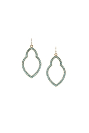 Marlyn Schiff Turquoise Moroccan Earrings - Front cropped