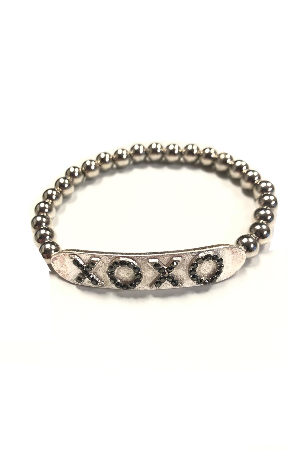 Marlyn Schiff Xoxo Crystal Bar Ball Bracelet - Front Cropped Image