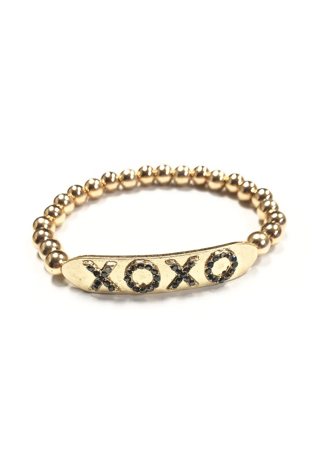 Marlyn Schiff Xoxo Crystal Bar Ball Bracelet - Main Image