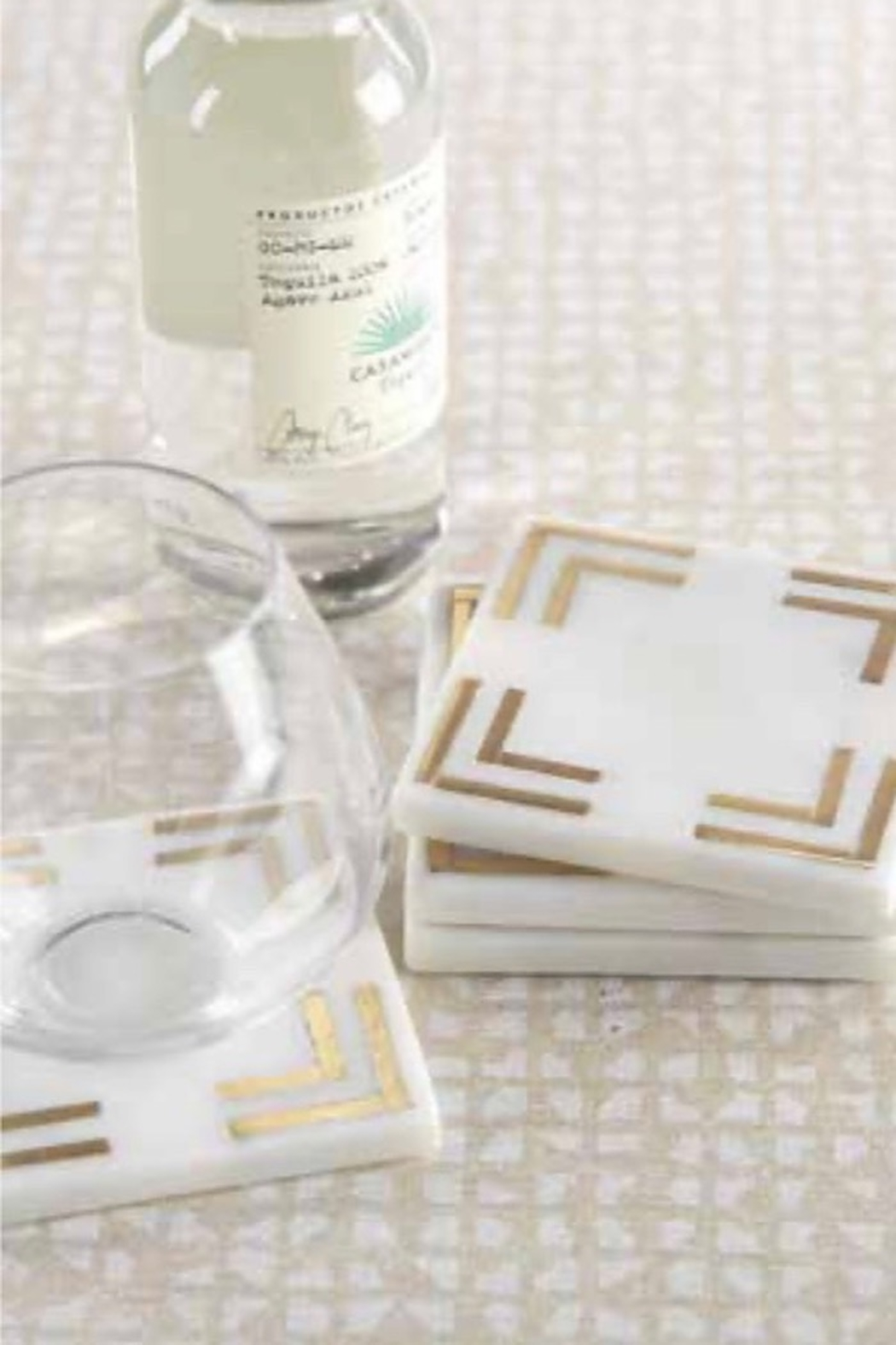 Zodax Marmo Marble Square Coasters Set of 4 - Front Cropped Image