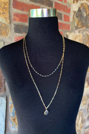 Midori Marna Double Tiered Necklace - Front full body