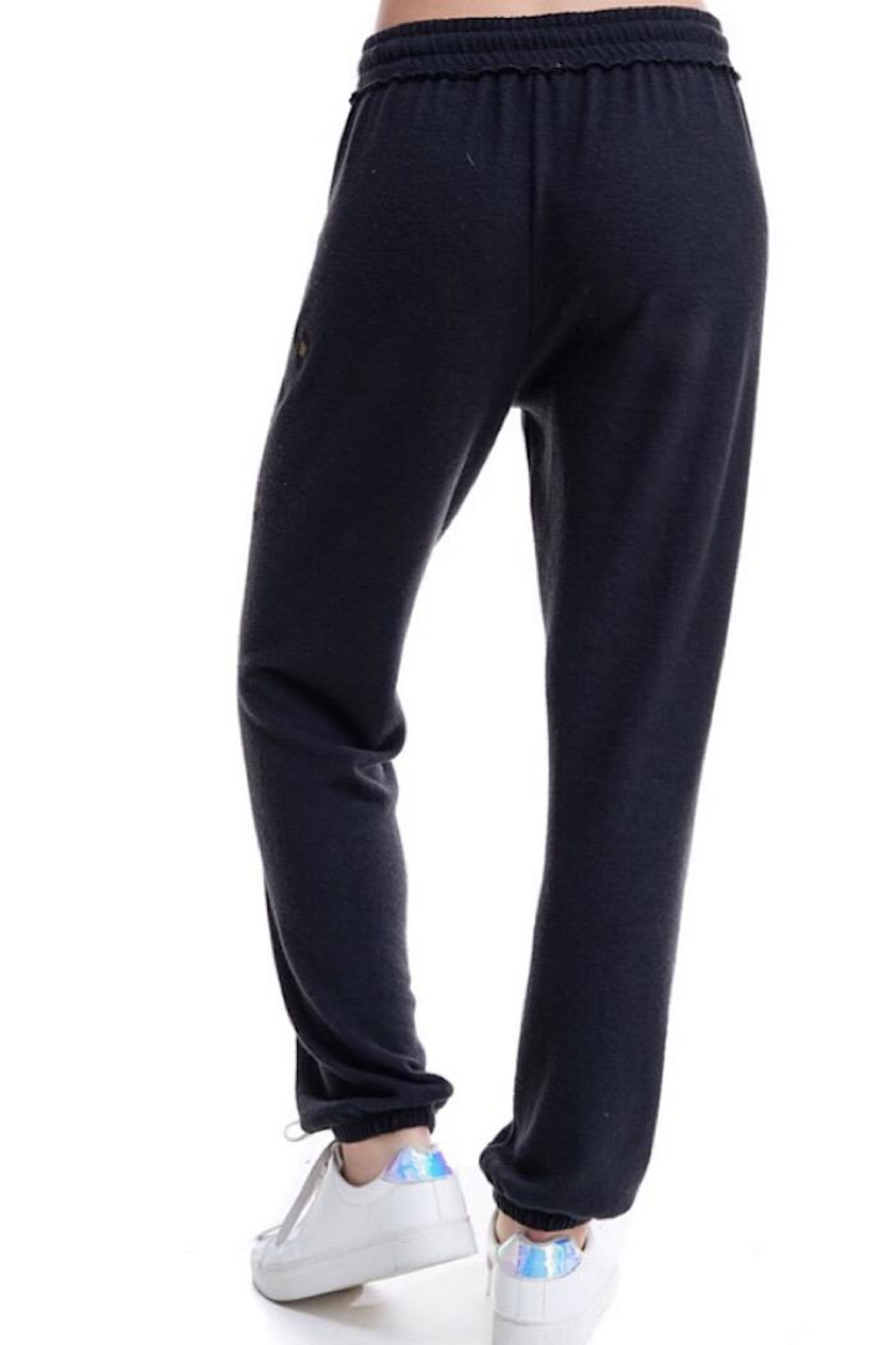 Maronie  Brush Knit Jogger - Side Cropped Image