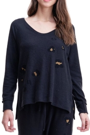 Maronie  Brush Knit Top - Front cropped