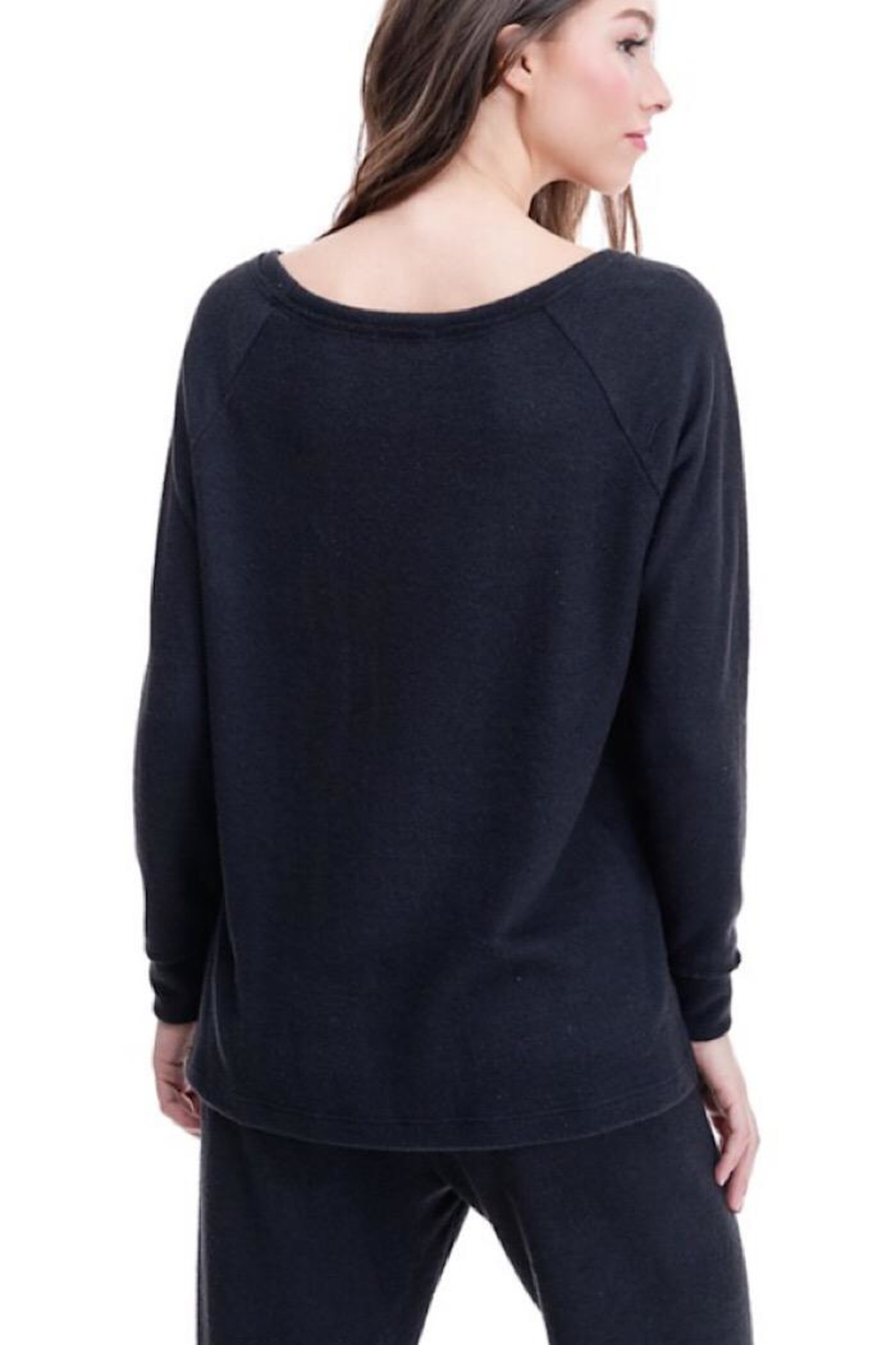 Maronie  Brush Knit Top - Side Cropped Image