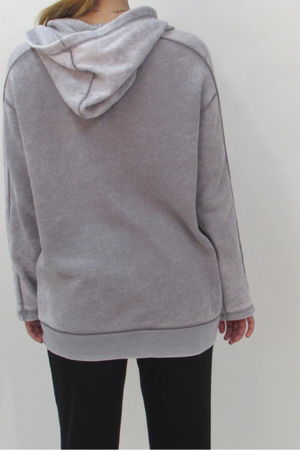 Maronie  Comfy Washed Hoodie - Back Cropped Image