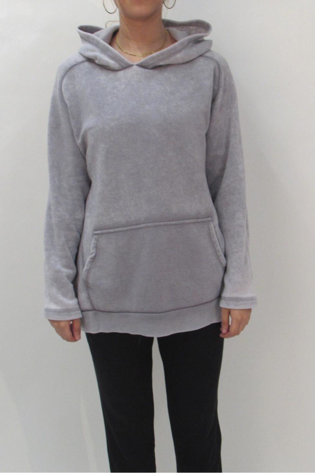 Maronie  Comfy Washed Hoodie - Front Cropped Image