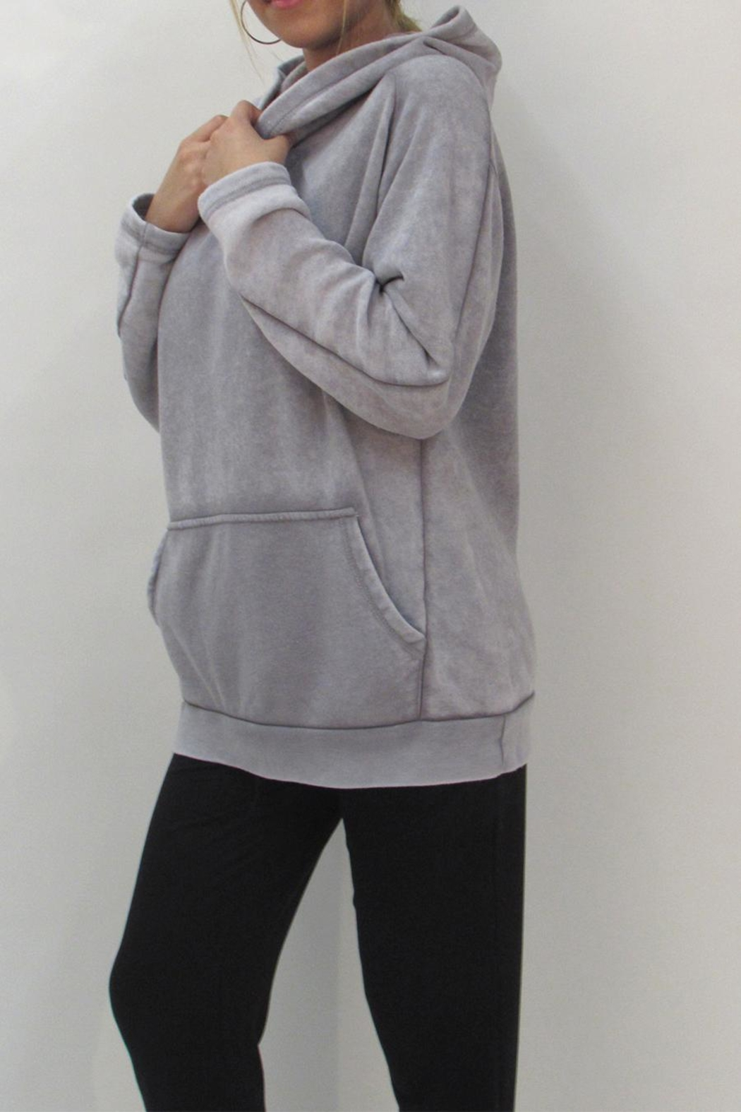 Maronie  Comfy Washed Hoodie - Side Cropped Image