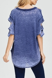 Maronie  Cutout Burnout Tee - Front full body