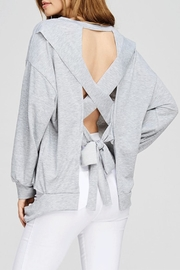 Maronie  Detail Backless Sweatshirt - Product Mini Image