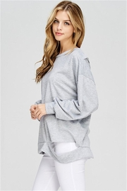 Maronie  Distressed Top - Front full body