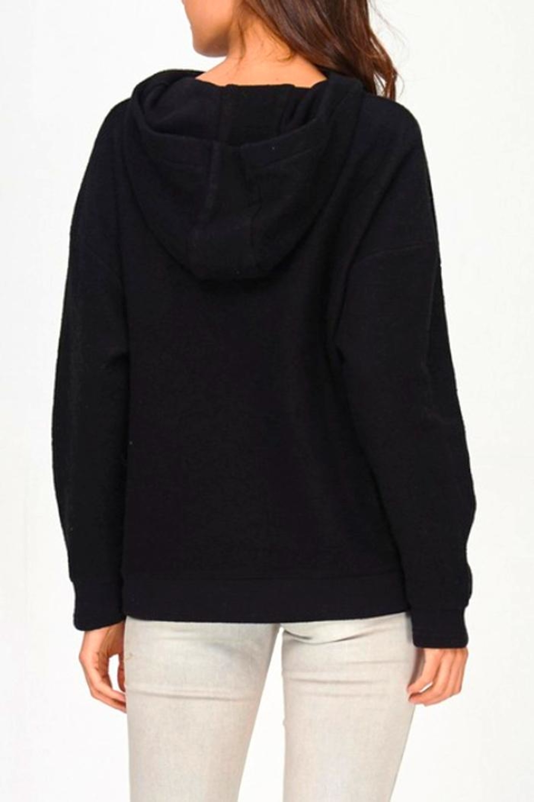 Maronie  Lace Up Hoodie - Side Cropped Image