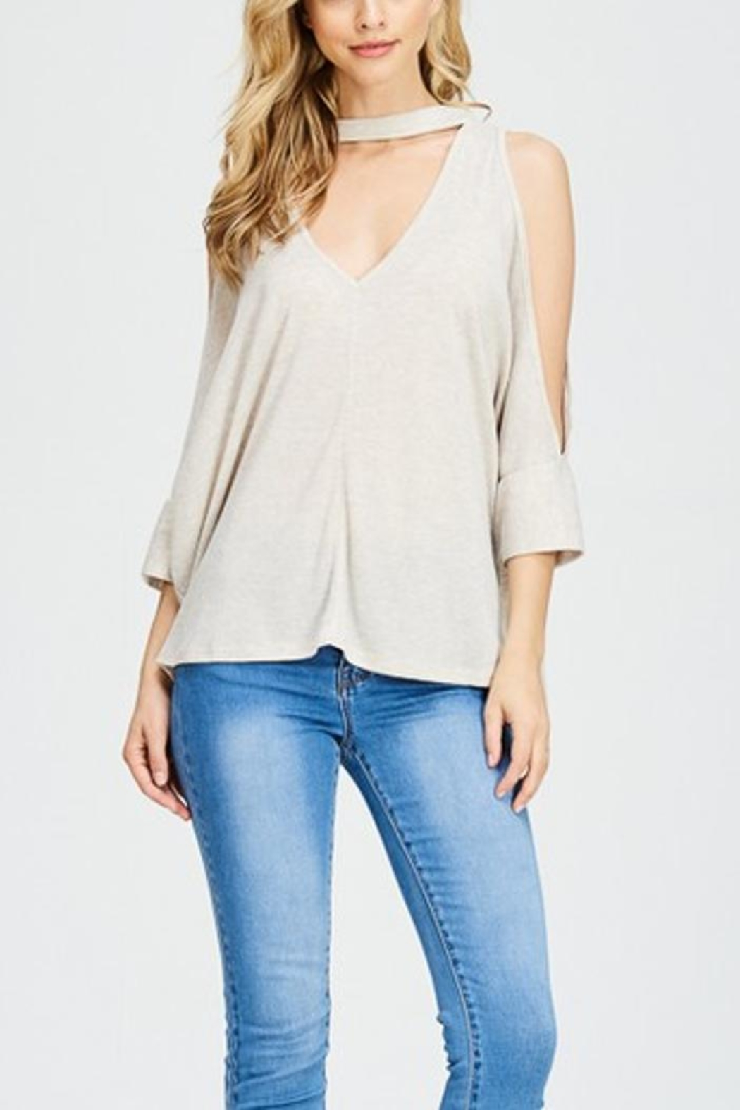 Maronie  Open Shoulder Top - Front Cropped Image
