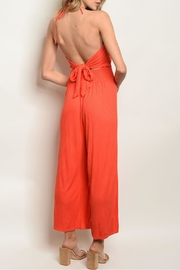 Maronie  Orange Jumpsuit - Front full body