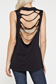 Maronie  Shredded Back Top - Front cropped