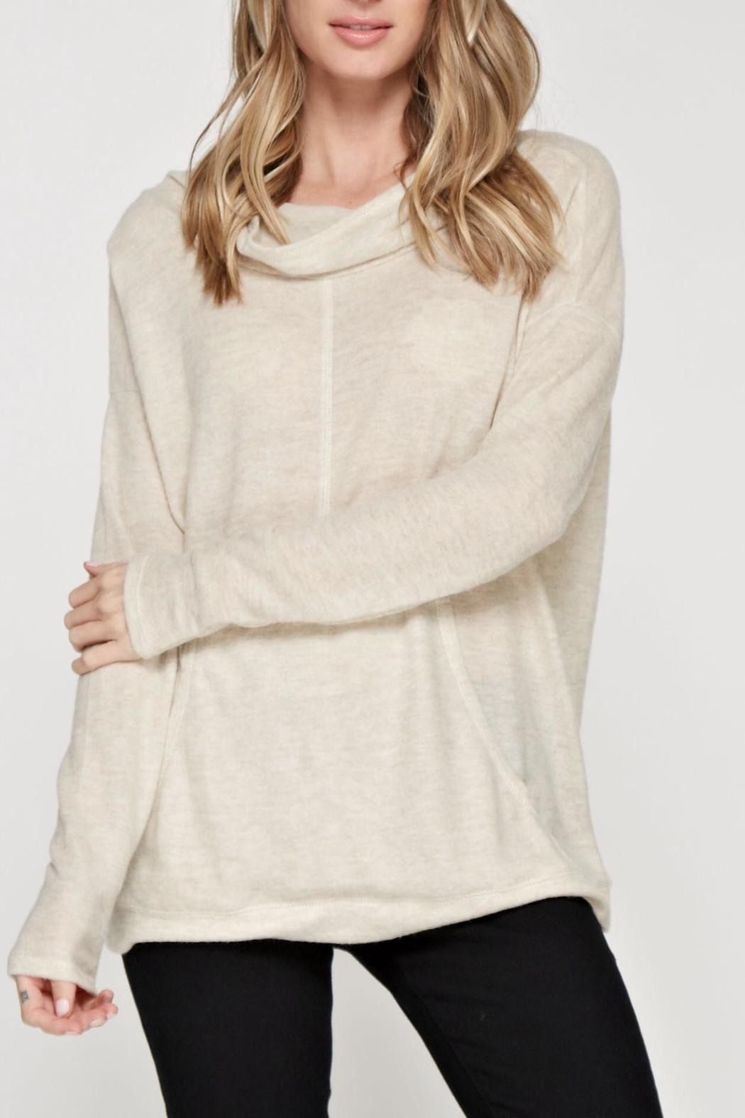 Maronie  Soft Comfy Hoodie - Front Cropped Image