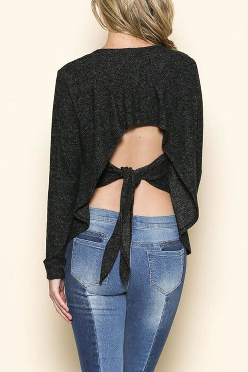 Maronie  Tie Back Top - Front Cropped Image